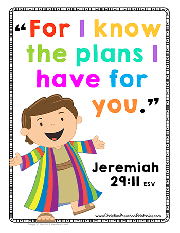 Joseph Bible Printables - Christian Preschool Printables