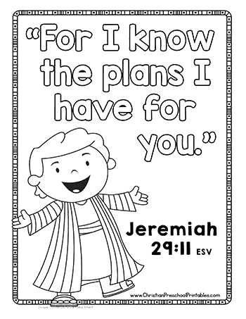 Joseph Bible Verse For Kids