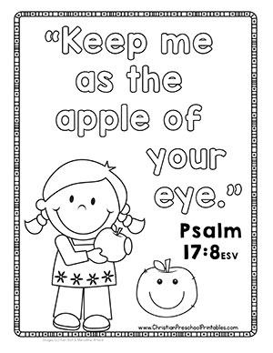 Apple Theme Bible Verse Printables Christian Preschool