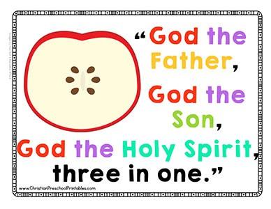 Apple Theme Bible Verse Printables Christian Preschool