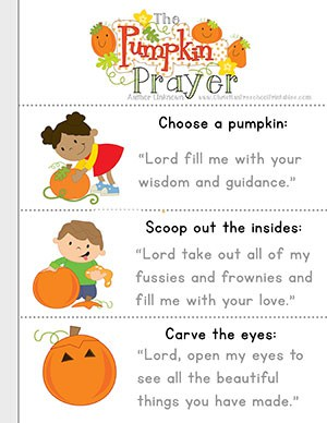 Halloween Harvest Bible Printables Christian Preschool Printables - Pumpkin-prayer-coloring-page