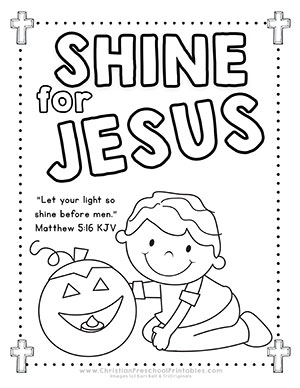Halloween harvest bible printables christian preschool for Preschool pumpkin coloring pages