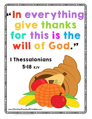 Thanksgiving Bible Crafts Free