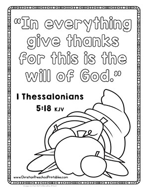 Thanksgiving Bible Printables & Crafts - Christian Preschool Printables