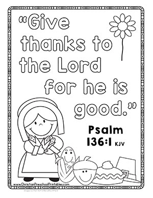 free christian thanksgiving coloring pages - photo#13