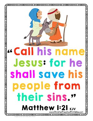 Christmas Bible Verse Printables - Christian Preschool Printables