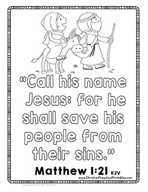 Christmas Bible Verse Printables Christian Preschool Printables