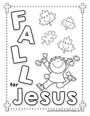 Free preschool coloring pages for christians ~ Fall Leaf Bible Printables - Christian Preschool Printables