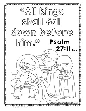 Wise Men Visit Jesus Bible Verse Coloring