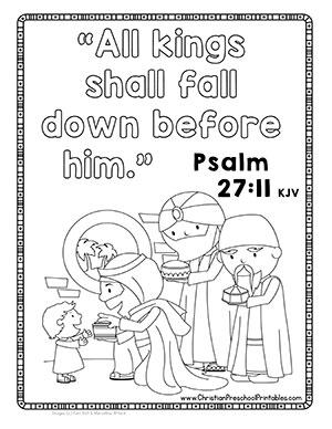 Wise Men Visit Jesus Bible Verse Coloring