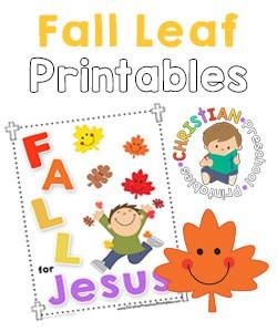 Fall Leaf Bible Printables Christian