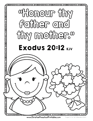 Mother S Day Bible Printables Christian Preschool Printables