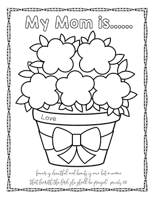 image regarding Printable Mothers Day Cards to Color Pdf called Moms Working day Bible Printables - Christian Preschool Printables