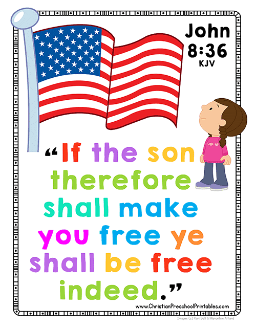 Freedom In Christ Bible Memory Chart