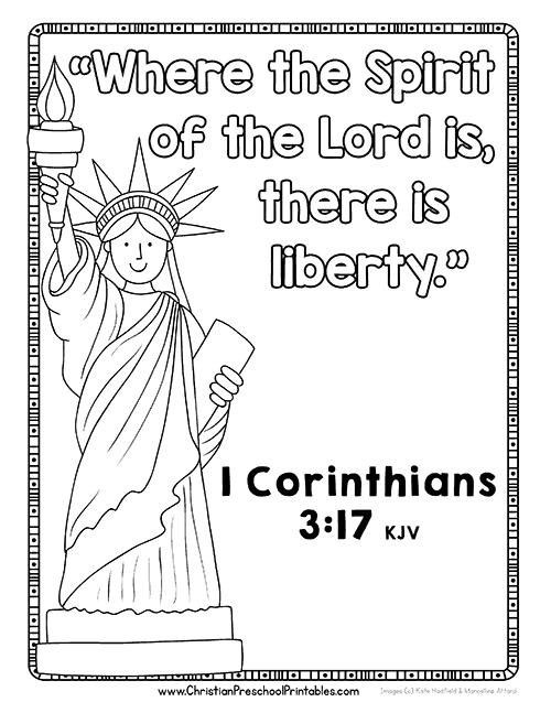 Fourth of July Bible Printables - Christian Preschool Printables
