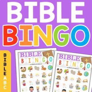 graphic relating to Bible Bingo Printable referred to as Bible BINGO - Christian Preschool Printables