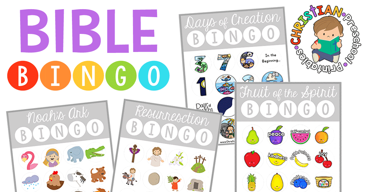 image about Free Printable Children's Church Curriculum called Bible BINGO - Christian Preschool Printables