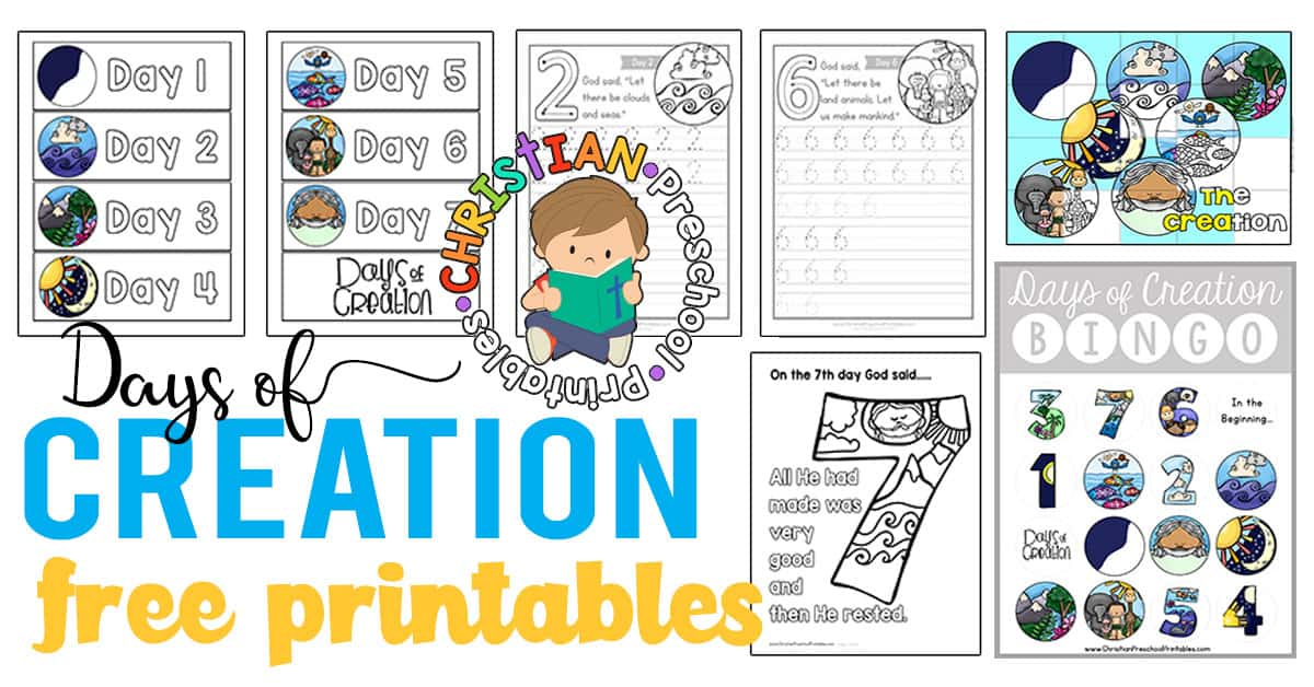 Creation Preschool Printables Christian Preschool Printables