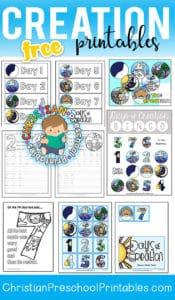 Creation Preschool Printables - Christian Preschool Printables
