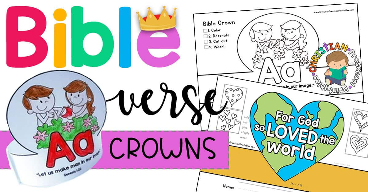 photo regarding Free Printable Bible Verses named Totally free Printables Bible Verse Crowns - Christian Preschool