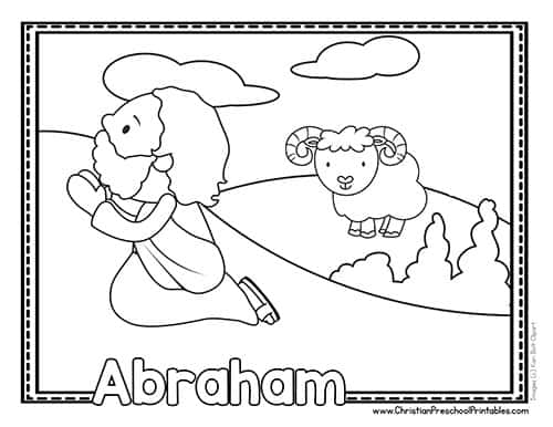 Abraham and God's Promise Coloring Page | 386x500