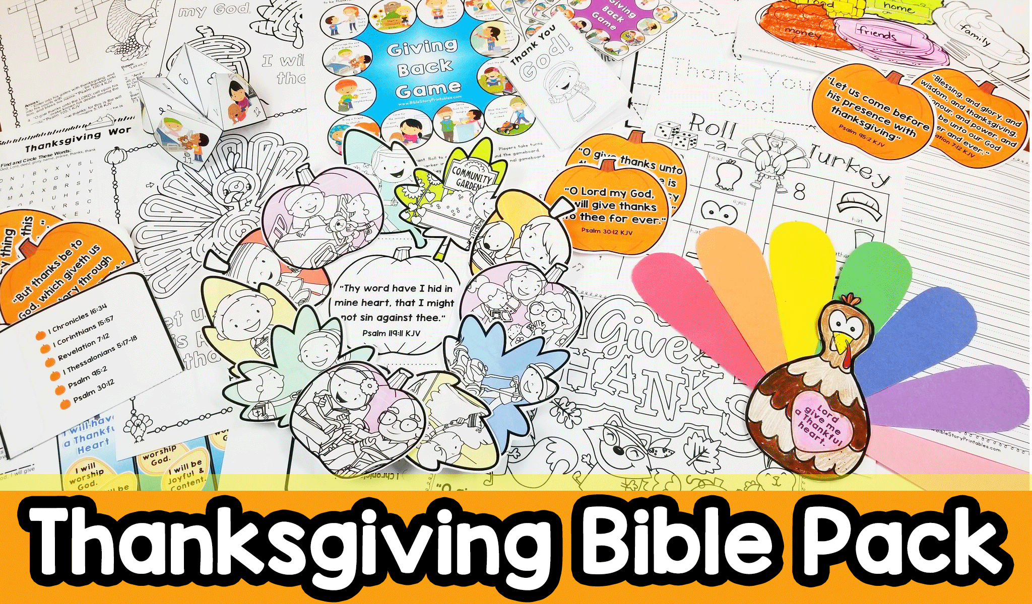 Thanksgiving Bible Printables Crafts Christian Preschool Printables