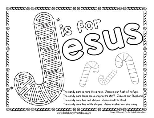 image regarding Printable Candy Cane identify Sweet Cane Bible Printables - Christian Preschool Printables