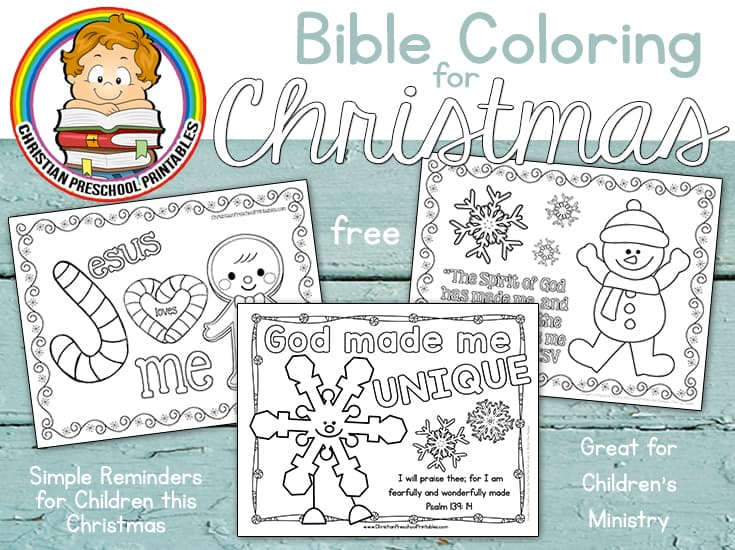 Snow Themed Bible Printables - Christian Preschool Printables