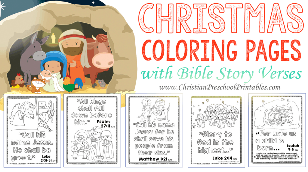 picture relating to Free Printable Bible Lessons for Toddlers identified as Xmas Bible Verse Printables - Christian Preschool