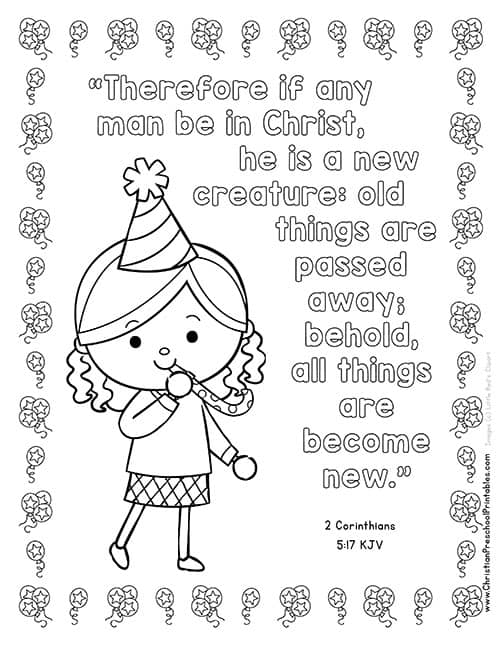 New Year's Bible Printables - Christian Preschool Printables
