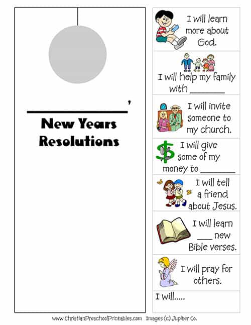 New Year's Bible Printables - Christian Preschool Printables