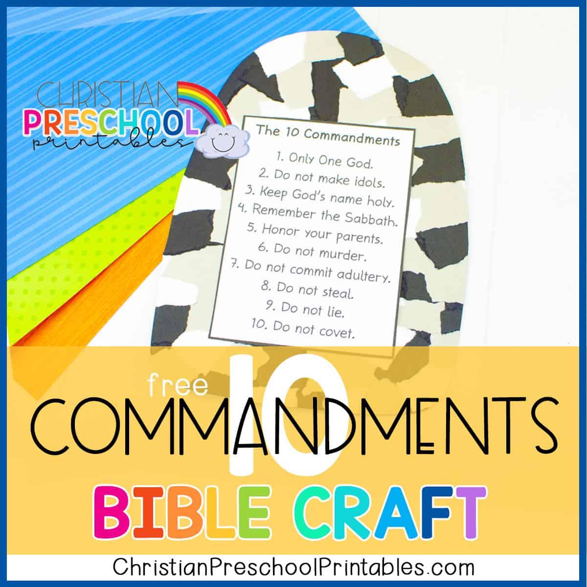 For kids commandments 10 Ten Commandments