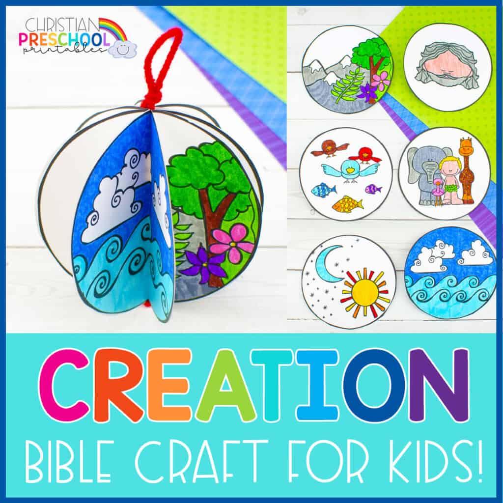 Free Printable Creation Craft For Kids Christian Preschool Printables