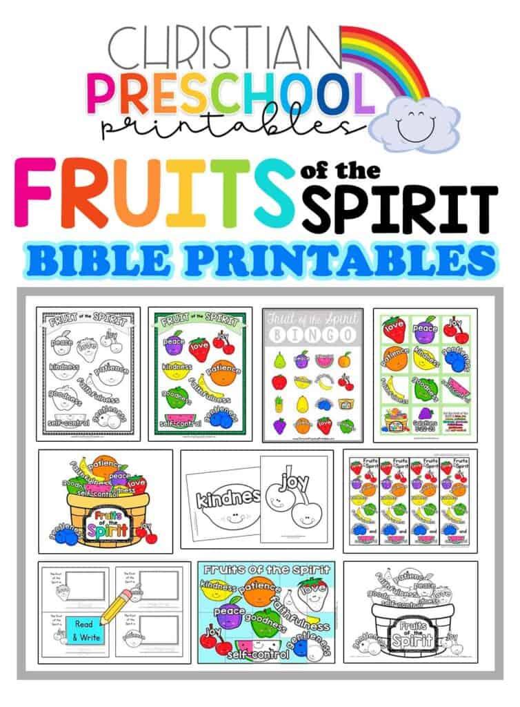Fruit Of The Spirit Printables Christian Preschool Printables