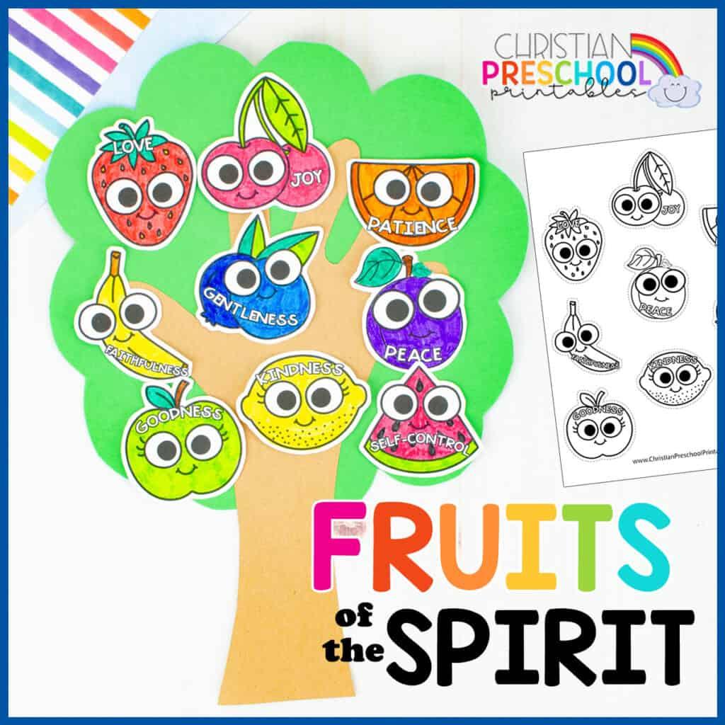 Fruit of the Spirit for Kids - Christian Preschool Printables