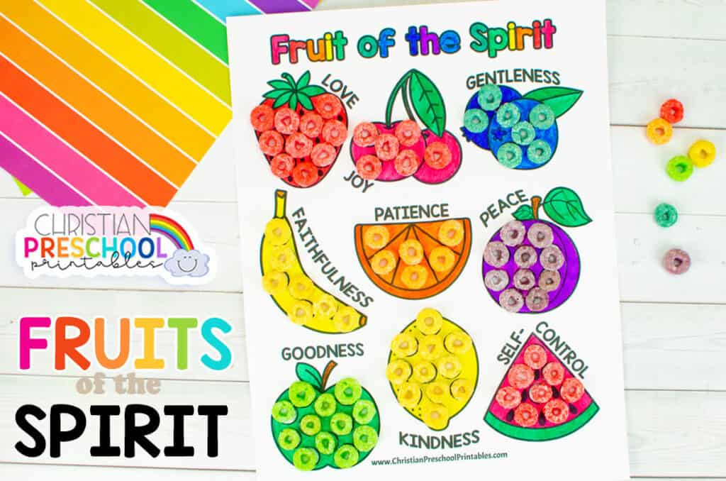 Fruit Of The Spirit Coloring Page - Christian Preschool Printables