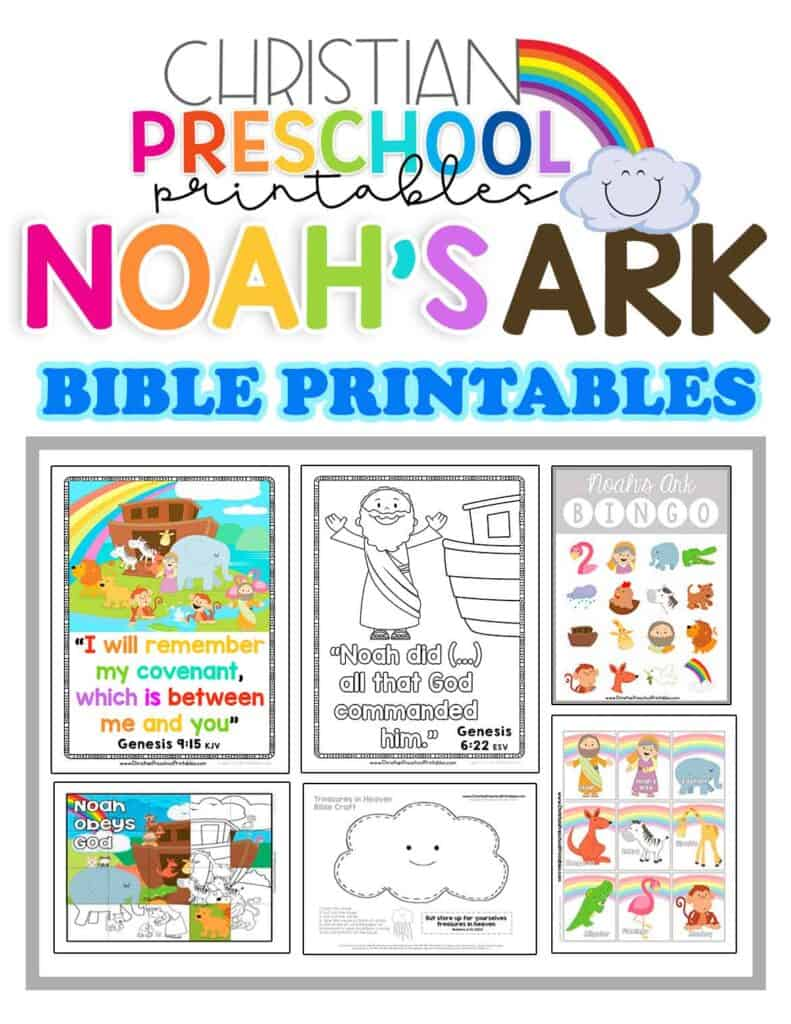 Noah and the Ark Rainbow Coloring Pages - Get Coloring Pages | 1024x791